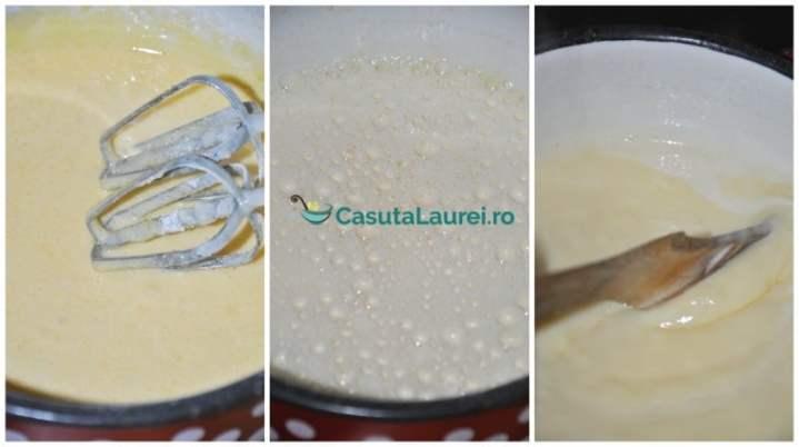 se prepara crema de vanilie cu oua