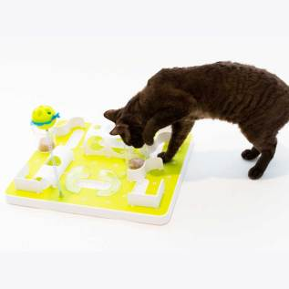 treat maze plato laberinto de comida para gatos