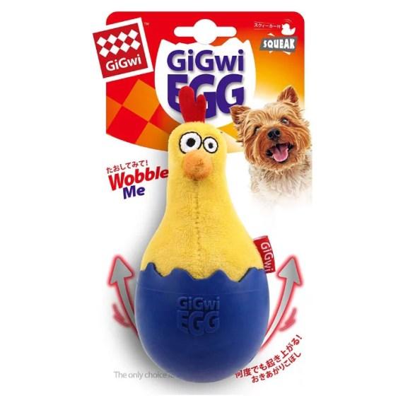 8130 pollo en huevo juguete para perro gigwi