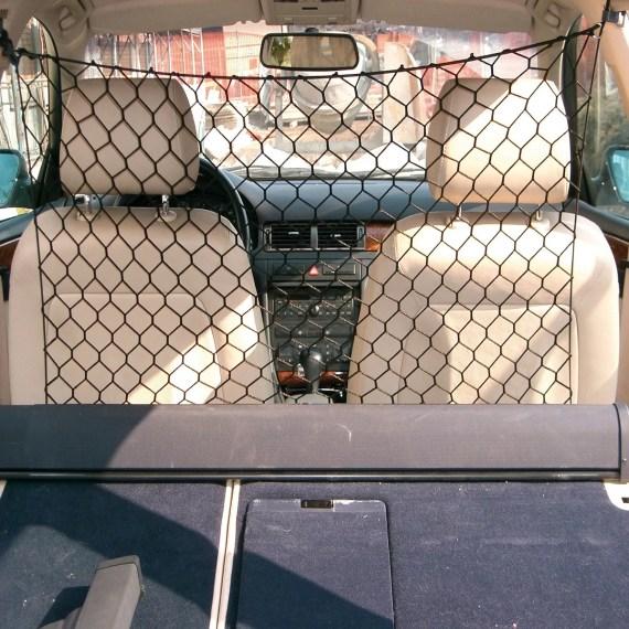malla divisora para el asiento del auto para perros