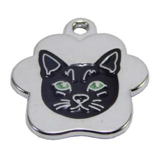 placa de identificacion para gato negro lima peru con grabacion