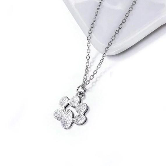 collar de plata petlover huella mascotas perro gato regalo en miraflores lima peru