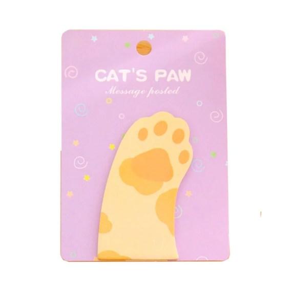 post it huella gato regalo catlover