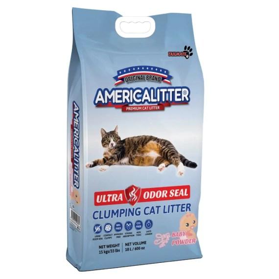 arena para gatos america litter ultra odor seal baby powder talco bebe en miraflores surco lima peru