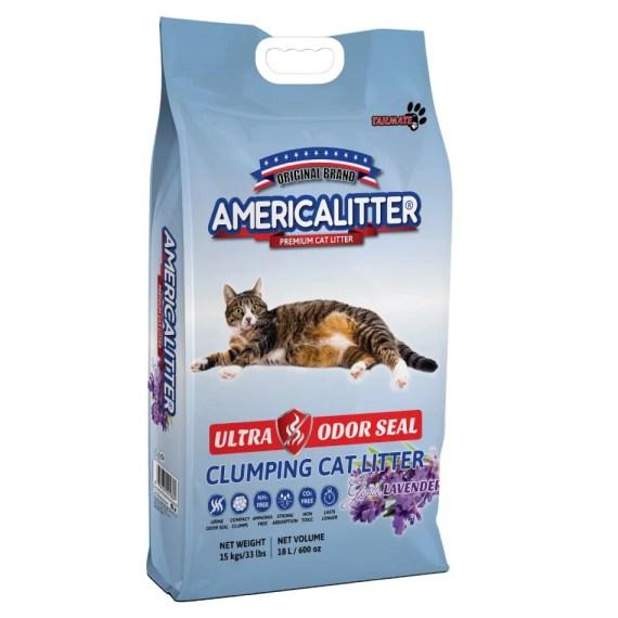 arena para gatos america litter ultra odor seal lavanda lavender en miraflores surco lima peru