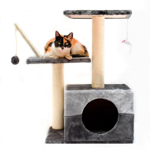 gimnasio castillo rascador para gatos madera miraflores lima peru