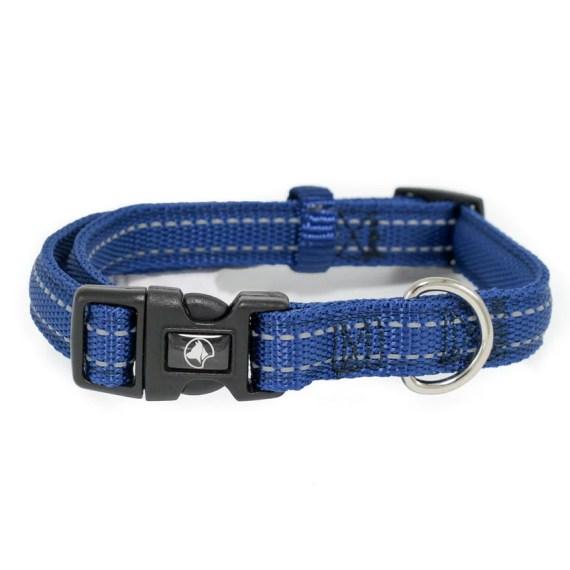 collar para perro reflectivo en Miraflores Lima Peru azul croci