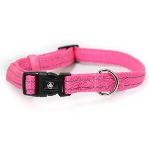 collar reflectivo para perros en miraflores lima peru croci italiano rosado