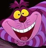 Purple striped Cheshire cat from Disney's Alice In Wonderland
