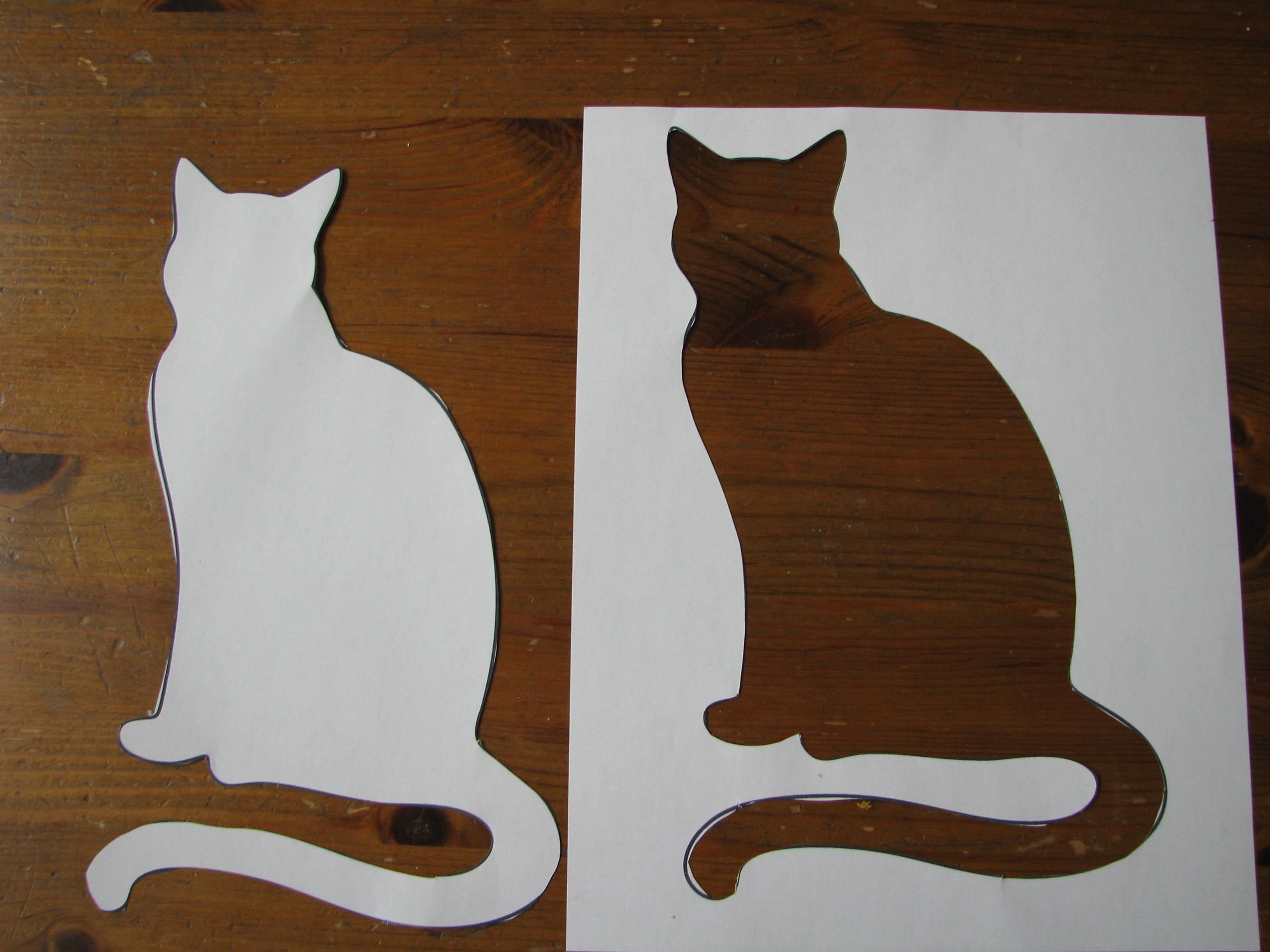 Cat Crafts - Sponge Art Cat