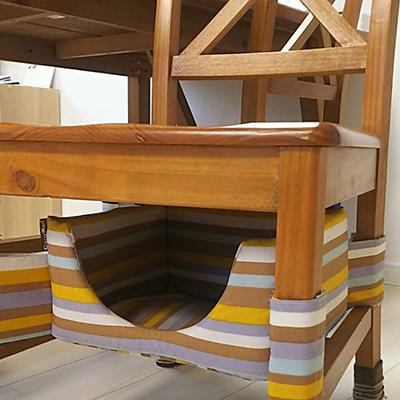 椅子の下にもにゃんこベッド