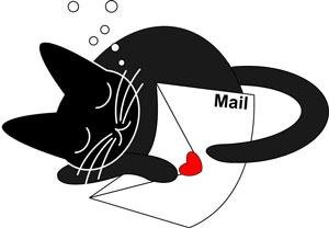 メールと猫