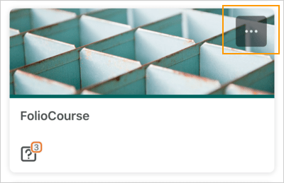 The Courses screen displaying an unpinned course tile with the ellipses icon
