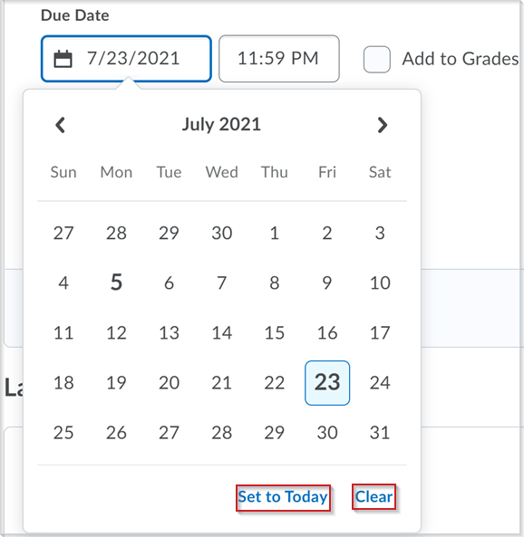 Updated date picker component in Activity Feed for due dates