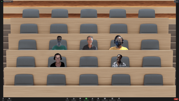 CAT+FD team in a Zoom meeting using Immersive View