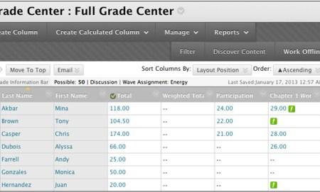 image showing Grade Center