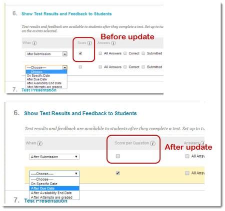 Test Results and Feedback Screenshot