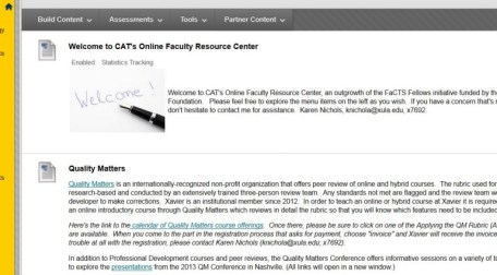 CAT's Online Faculty Resource Center