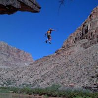 Jumping 40' or so. Yup. I was scared!