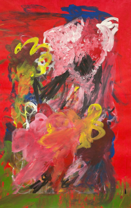 Abstract painting of flowers