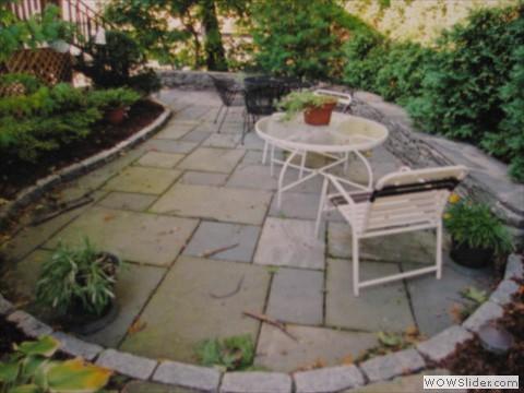 brick versus blue stone patios