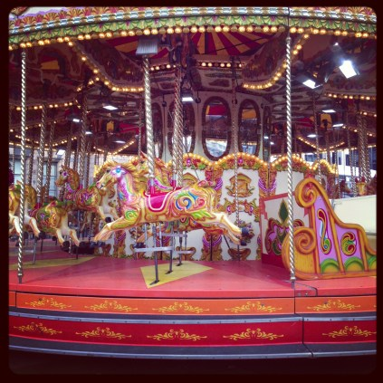 Carousel at the Natural History Museum Ice Rink