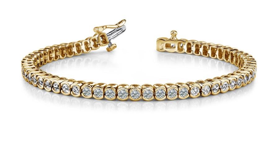 B117 Half bezel diamond bracelet