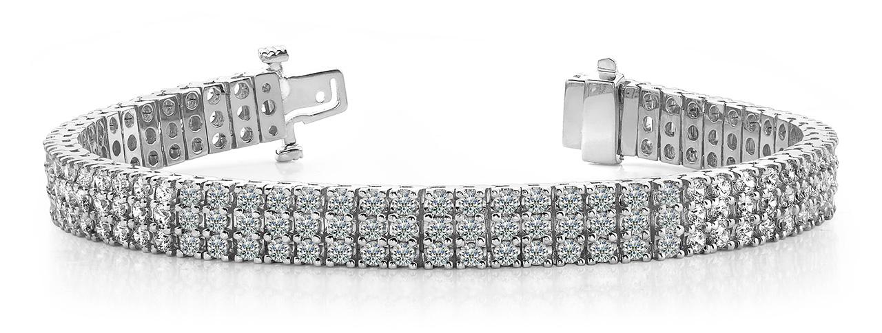 Aaron & Son B127 Three Row Diamond Bracelet