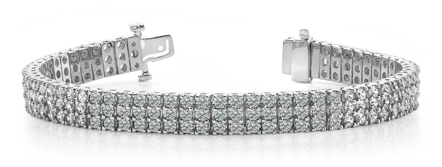 Aaron & Son B127 Three Row Diamond Bracelet