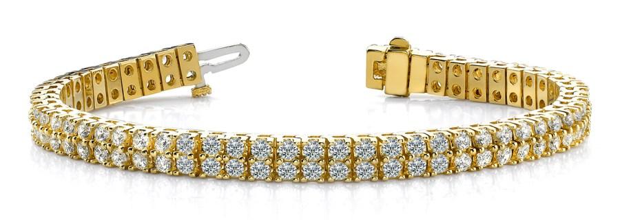 B136 Two Row Four Prong Bracelet