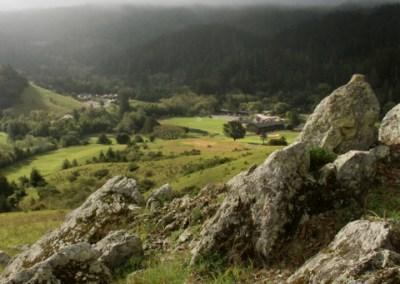San Geronimo Valley rocky outcropping