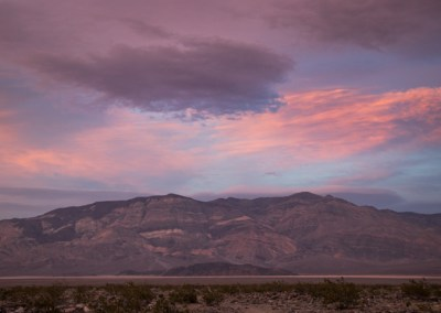 Sunset overlooking Death Valley