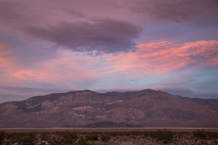 Sunset overlooking Death Valley