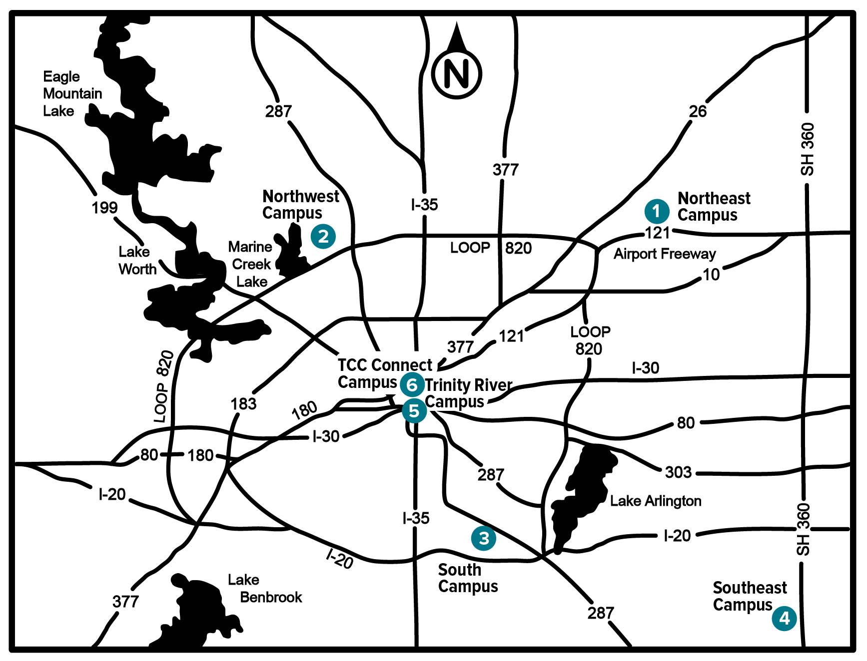 Tarrant County Northwest Campus Map