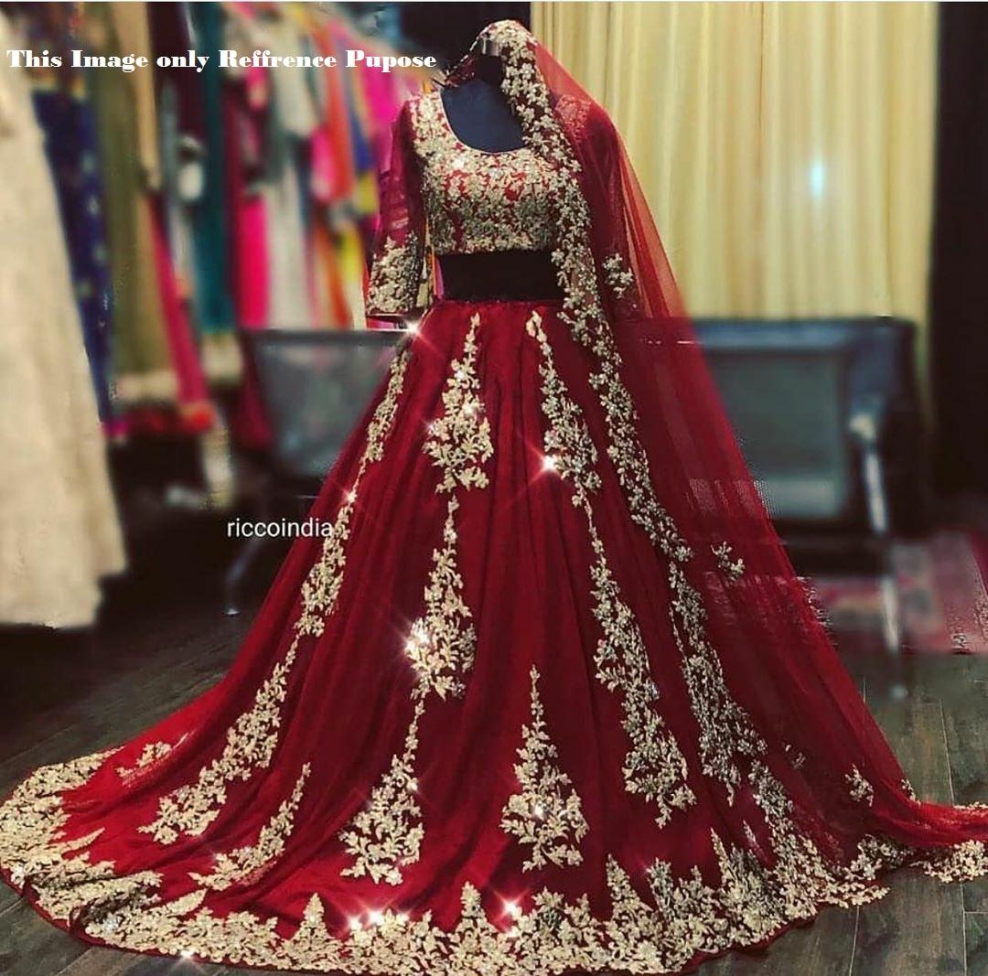 Catalog Fashion Mart Wedding Red Heavy Bridal Lehenga Choli Buy Wholesale Price