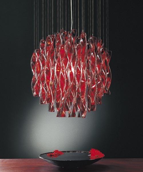 Lampadario murano moderno rosso a 6 luci bga. Axo Light Aura Sp45 Lampadario Vetro Di Murano Acciaio Lucid
