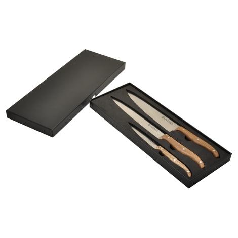coffret de 3 couteaux de cuisine chef laguiole