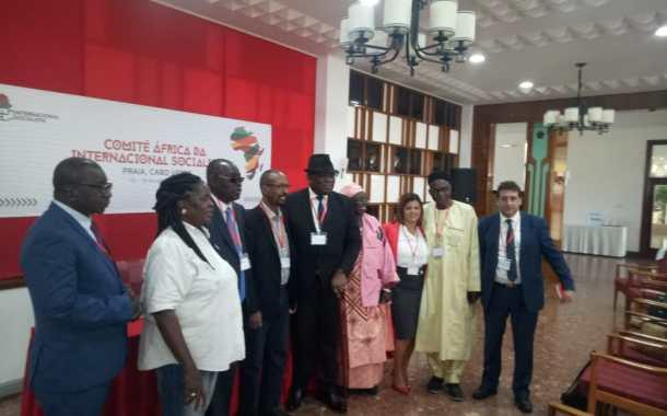 مشاركة الكاتبة الإقليمية للإتحاد الإشتراكي بإسبانيا فيإجتماع لجنة إفريقيا الأممية الإشتراكية .