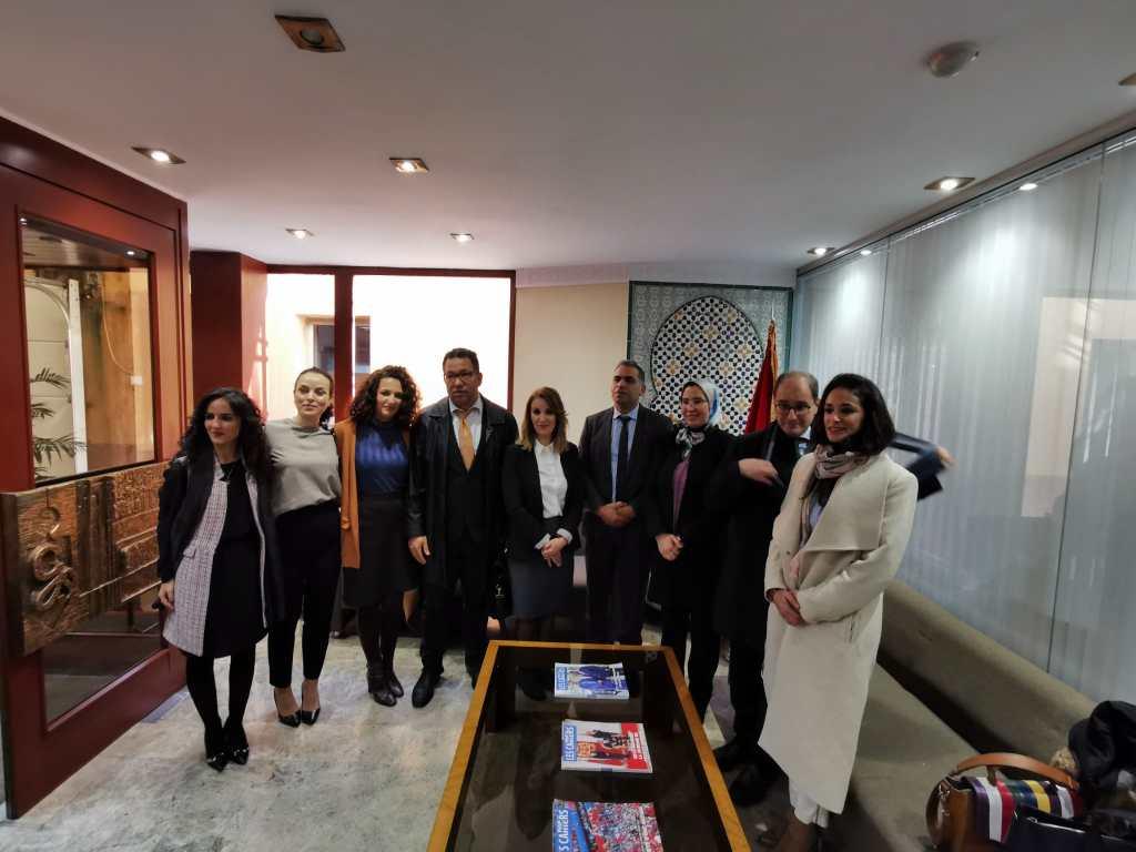 على هامش كوب25 بمدريد نزهة الوافي تلتقي تمثيلية محاموا مغاربة العالم.