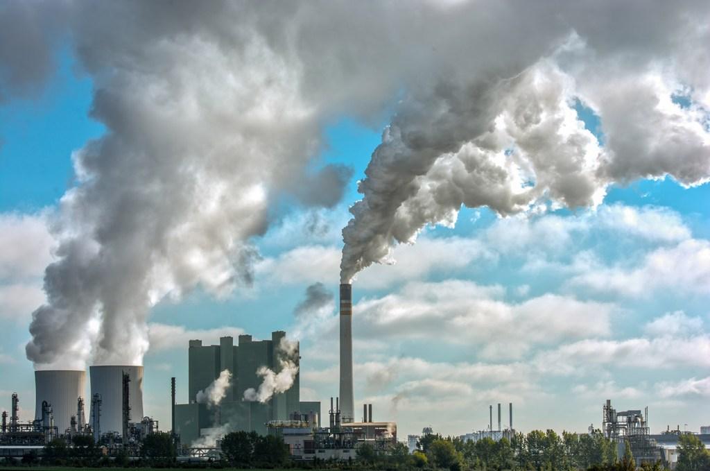 Industrial smokestacks, Germany; photo Jeffrey Reimer