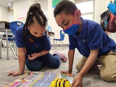 Catalyst student programs robot in STEM lesson