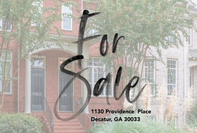 Town Home For Sale in Decatur, Georgia