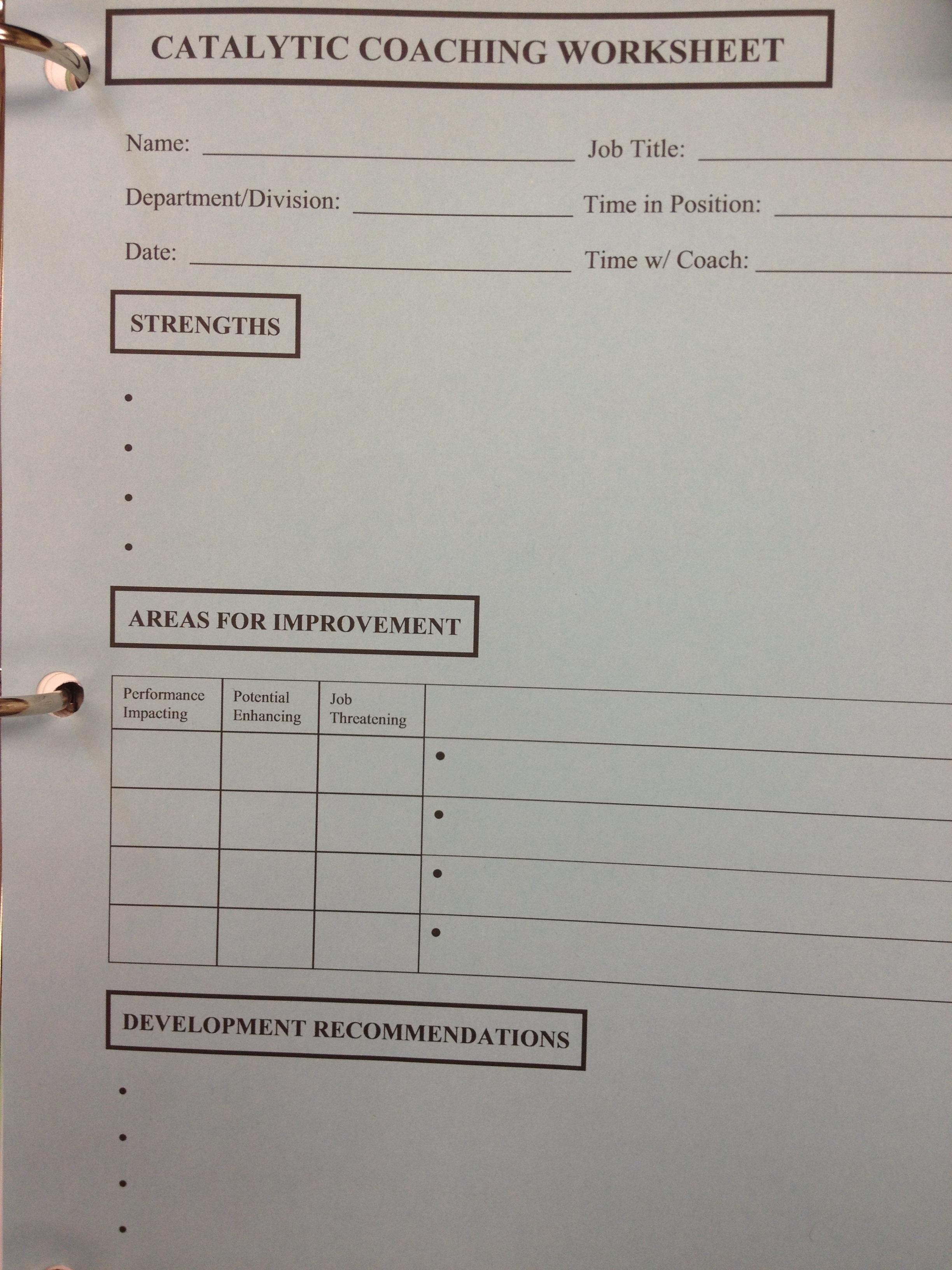 Coaching Worksheet2