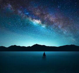 Las Perseidas desde el mar Lluvia de estrellas