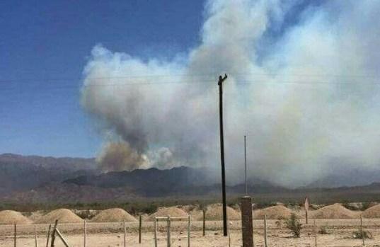 Minas Capillitas, Incendio Andalgala