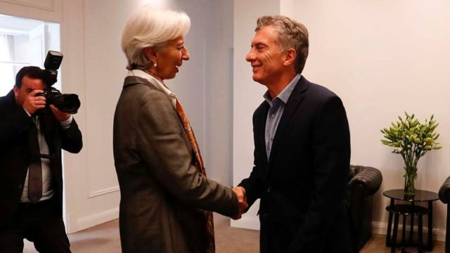 FMI Argentia, Macri Lagarde
