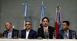 Ruben Dusso, Raul Jalil, Ministro Nicolas Trotta, Ministro Francisco Gordillo