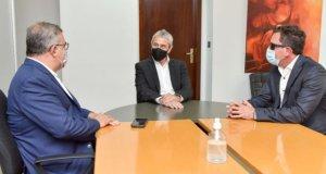 Raúl Jalil y el ministro de Vivienda y Urbanización, Fidel Sáenz, se reunieron con el ministro de Desarrollo Territorial y Hábitat de la Nación, Jorge Ferraresi