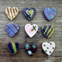 Sweetheart Ceramic Brooches