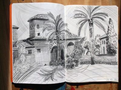 Alhambra Pencil Drawing (© Catherine Cronin)